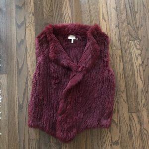 Joie Real Rabbit Fur Vest Size XS